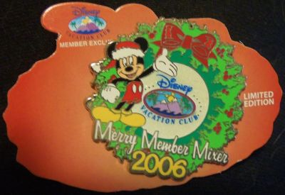 Collectors Limited Edition Vacation Club Merry Member Mixer pin 2006 new,origcrd