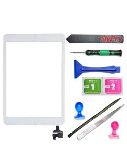 New iPad mini (white color) digitizer,screen replacement kit for ipad 1 or 2. Was going to replace & ended up getting my daughter a new one.