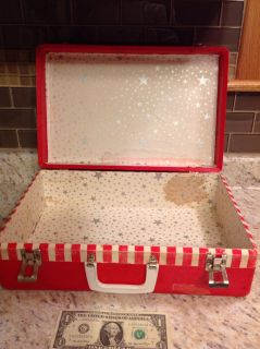 Vintage red and white box