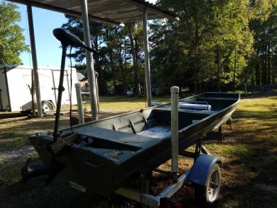 14 foot jon boat with trailer and trolling motor