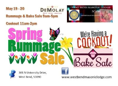 Masonic & DeMolay Rummage-Brat Fry-Bake Sale!