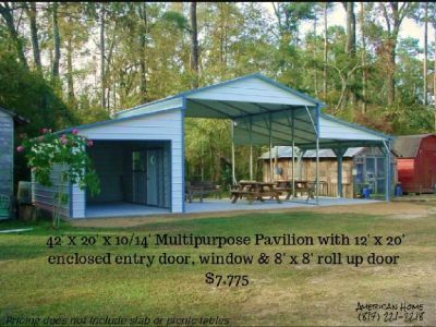 Barns, Garages, Carports, Loafing Sheds,