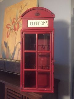 Telephone wall cabinet