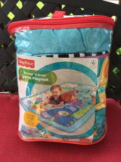 "EXTRA LARGE - 40"" x 58""FISHER PRICE DISCOVER 'n GROW JUMBO PLAYMATLike new - Used once at Grandma house0 -18 monthB/G GENDERREAD"