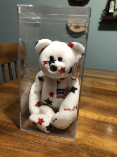 Mint condition Glory TY Beanie baby in clear plastic case