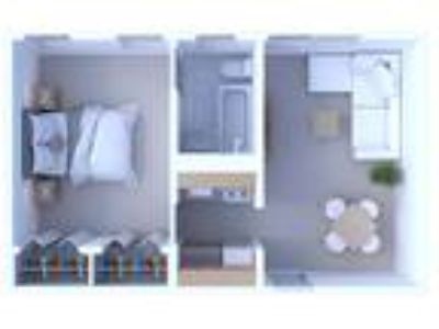 Times Square Apartments - One BR Floor Plan A1