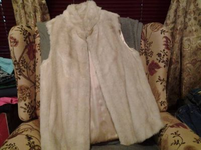 faux fur ladies vest
