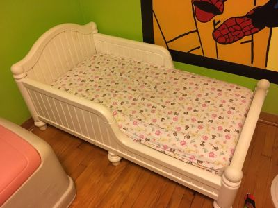 Toddler bed and barely used mattress