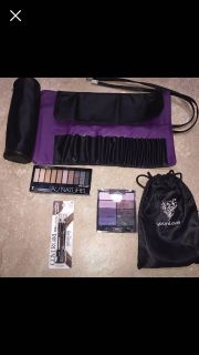 ALL are NEW 2 younique makeup bags, eyeliner with sharpener 2 different wet n wild eyeshadow palette