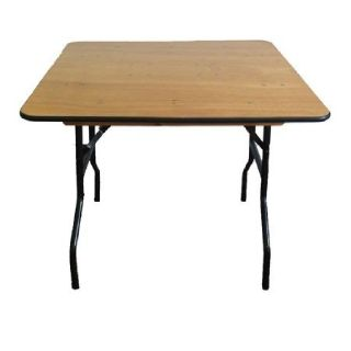 "60"" Square Plywood Folding Table at Discount Folding Chairs Tables"
