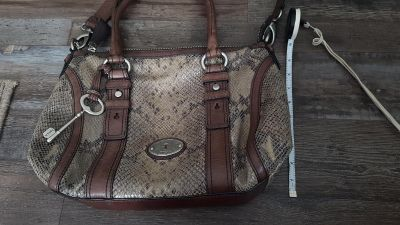 Fossil Purse-Brown leather trim