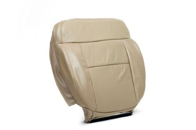 Purchase 2006 Ford F150 Lariat Driver Side Bottom Replacement Leather Seat Cover In Tan motorcycle in Houston, Texas, United States