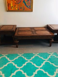 3 pc wooden table set