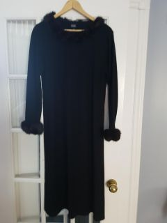 WOMEN'S WOOL DRESS WITH REAL MINK FUR BY EILEEN FISHER COLLECTION