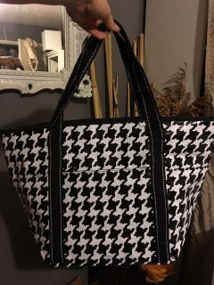 Houndstooth Tote Gift Bag