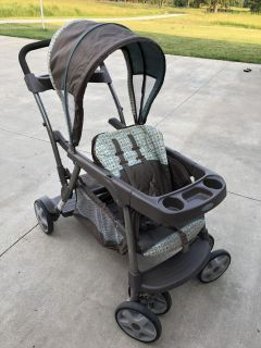 Grace ready 2 grow stroller can be double stroller with 2 babies/toddler or toddler and toddler one sits in front and back