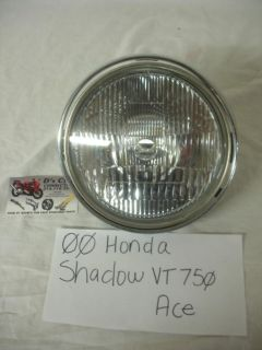 Sell 00 Honda Shadow VT-750 ACE Headlight complete with headlight ring. Good Used OEM motorcycle in Terrell, Texas, US, for US $64.95