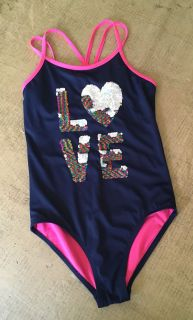 Girl s Justice Bathing Suit, Size 12