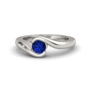Helzberg Diamonds - Embrace Ring - Platinum & Blue Sapphire