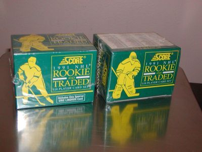 Score 1991 NHL Rookie and Traded 110 Player Card Set Hockey cards 2 BOXES - NEW SEALED