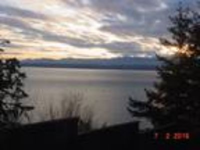 Olympic Mountains & Shipping Channel View Whidbey Island Waterfront