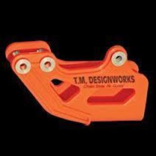 Sell T.M. DESIGNWORKS ORANGE OUTER CHAIN GUIDE KTM 85 125 200 250 300 400 450 525 XC motorcycle in Tempe, Arizona, US, for US $48.00