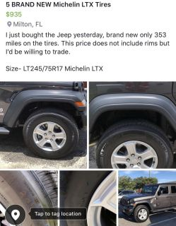 5 BRAND new Michelin tires for sale!