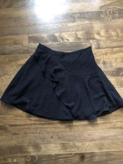Urban Outfitters Size 0 Fluttery Black Mini Skirt