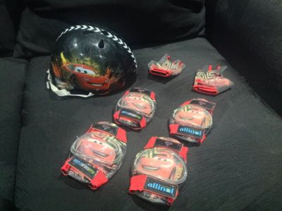 Toddler Boys Disney McQueen Cars Helmet Lot Bike