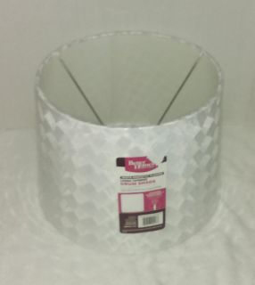 Better Homes & Gardens White Perfectly Pleated Large Tapered Drum Shade