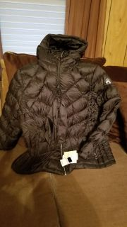 MICHAEL Michael Kors Plus Size Ruched Packable Down Coat (super warm)