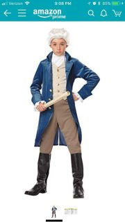 Looking for George Washington costume for historical figure project