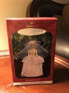 Hallmark keepsake ornament wedding day Barbie