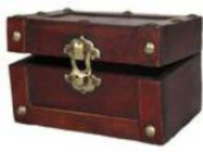 Vintiquewise(TM) Mini Treasure Chest Small