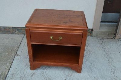 Wooden end tables. $15