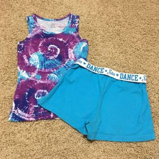 Girls size 7-8 tank and shorts