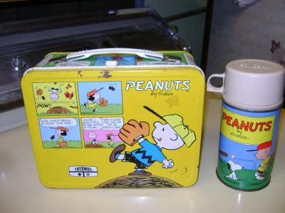 Peanuts Metal Lunch Box w/Thermos