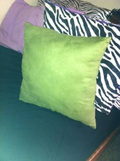 2 Olive Colored Throw Pillows