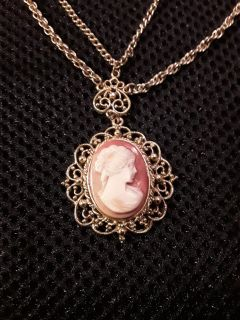 Antique Cameo Double chained Necklace