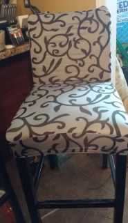 Pub Chairs (3) and Slipcovers (3)