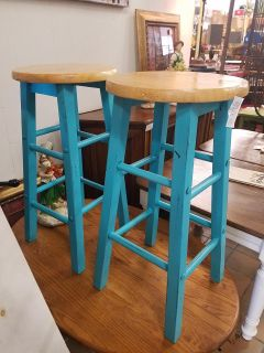 Bar stools $35 for the pair plus tax(24 inches tall)