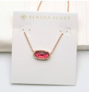 Brand new, rose gold and berry, Kendra Scott Elisa necklace!