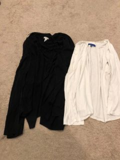 2 cardigans 3x black and white, sold together, price is for the lot