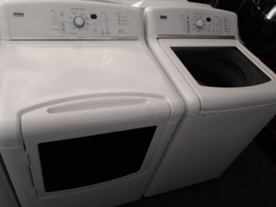 Kenmore oasis top loads washer and steam dryer electric