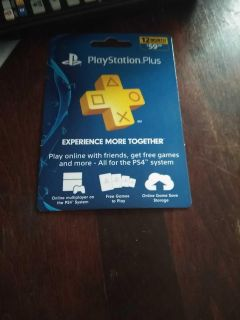 PS4 - PlayStation Plus [12 MONTHS] (NOT USED)