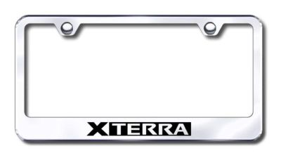 Find Nissan Xterra Engraved Chrome License Plate Frame -Metal Made in USA Genuine motorcycle in San Tan Valley, Arizona, US, for US $30.98