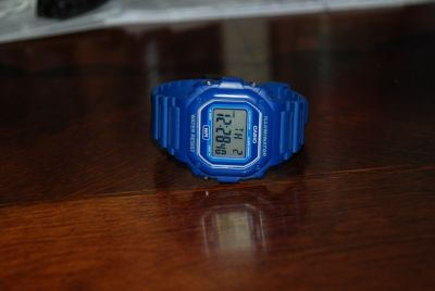 Men's Casio ( g-shock like) watch BLUE water resistant