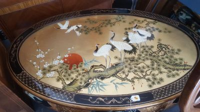 Handpainted Asian coffee table