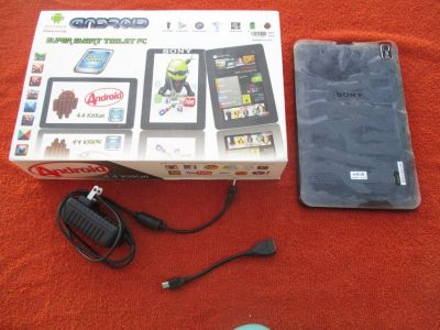 """SONY """"Android"""" Tablet, screen size 9"""" in orignial box, w/charger & USB cable"""