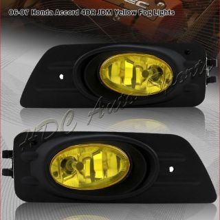 Purchase For 2006-2007 Honda Accord Sedan JDM Yellow Lens OE Style Fog Lights Lamps Kit motorcycle in Walnut, California, United States